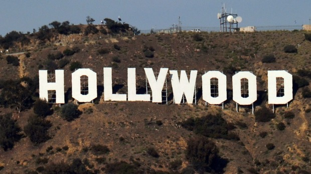 The Hollywood sign in California is an American cultural icon.