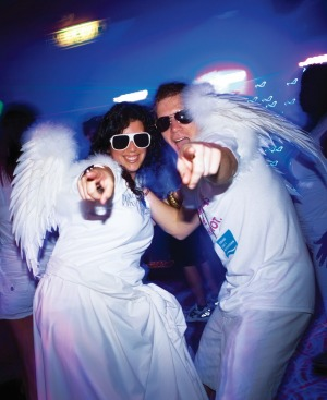 Norwegian Cruise Line Glow Party: This is a high-energy dance event on the pool deck, where a light show spectacular ...