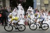 The Sisters of the Consolation congregation enjoy the spectacle that is the Tour de France.