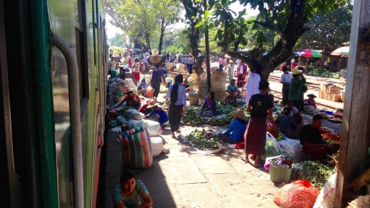 Markets alongside Yangon's 38-station railway loop connecting the outer suburbs with the city centre.