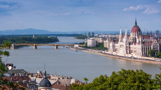 Budapest lies on the Danube.