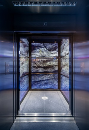 The elevator at the One World Trade Centre in New York.