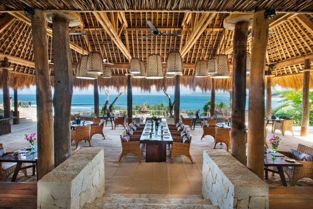 The Ombak restaurant at the Nihiwatu resort.