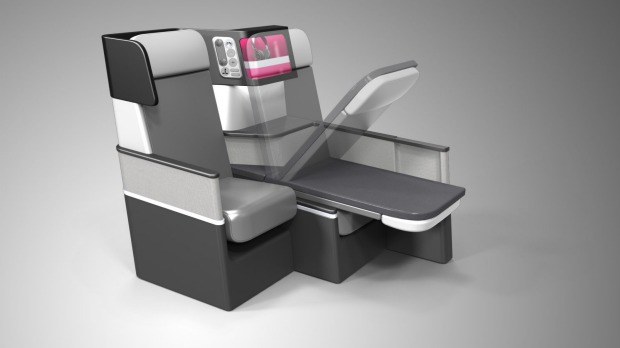 Butterfly airline seating design by James S.H. Lee of Paperclip Design.