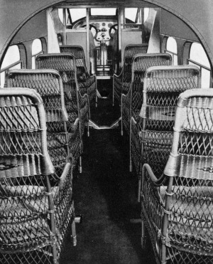 A Ford Trimotor interior from the  late 1920s.