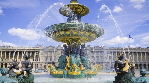 Fontaine des Mers in the  Place de la Concorde in Paris.