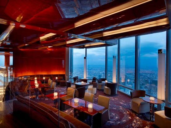 The lounge packs jaw-dropping views down the coast towards Jumeriah Beach, and the restaurant, with its eastward facing ...