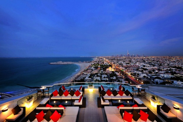 Uptown Bar at Jumeirah Beach Hotel: It's almost a surprise to find Uptown perched atop the family-friendly Jumeirah ...
