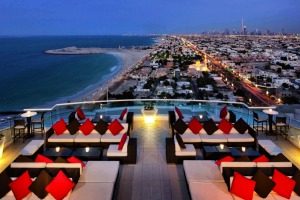 Something else: The Uptown bar at Jumeirah Beach Hotel offers iconic views.