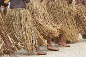 Lcoals performing dance, Hienghene, New Caledonia.