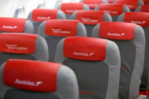 Austrian Airlines seats are spotless.