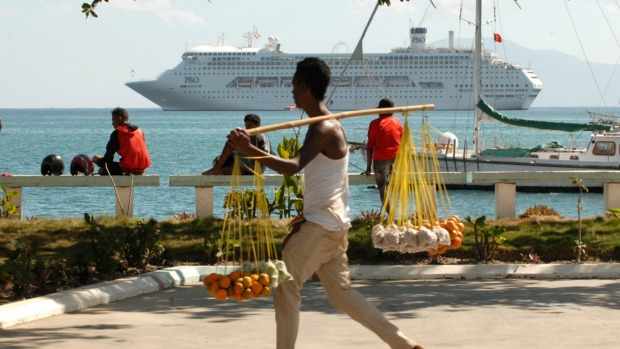 The Pacific Jewel is the first major cruise ship to visit Timor-Leste.