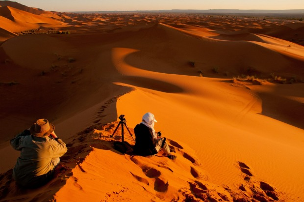 Morocco Photo Adventure: Picture the Sahara at sunset atop a camel with National Geographic photographer, Massimo ...