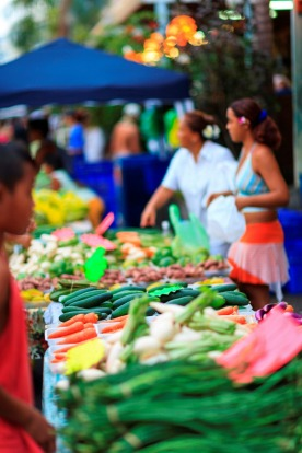 Shopping for sarongs, baskets, carvings and pearls is a multisensory experience at Papeete's public market, where the ...