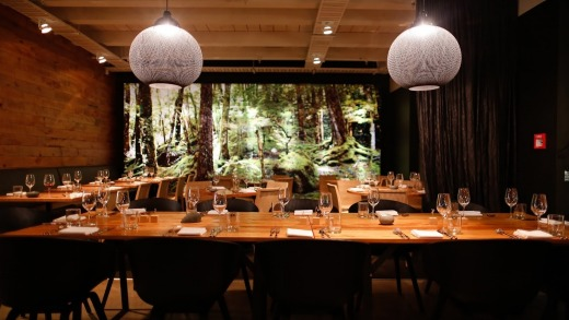 Rata Restaurant It Features A Forest Mural That Dominates The Dining Room Making