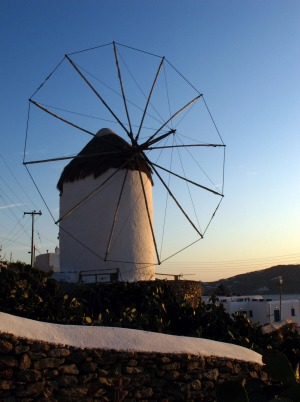 The Mykonos windmills are an iconic feature.
