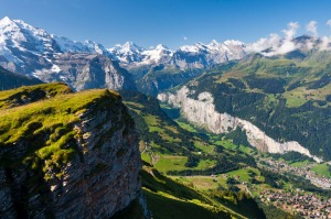 A view over Lauterbrunnen.