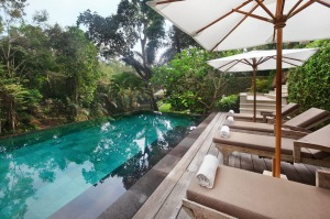 The pool at Villa Mawar.