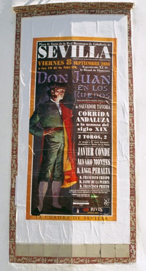A poster advertising the opera Don Juan in Seville.