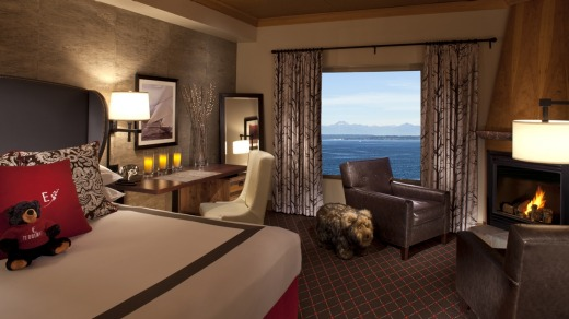 One of the rooms at the Edgewater Hotel.