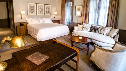 Rooms are spacious and tailored with an old-school sense of the upholsterer's art at The Singular.