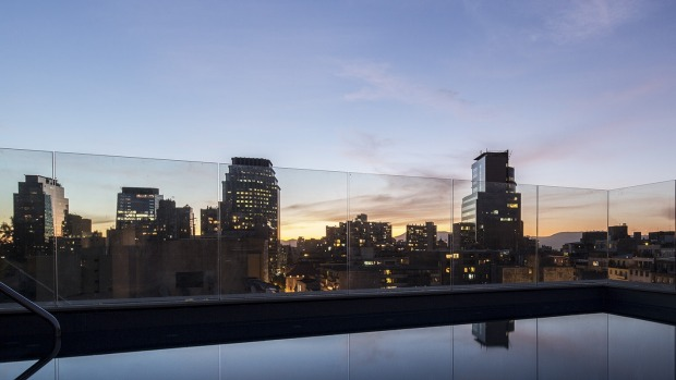 View from The Singular hotel in Santiago.