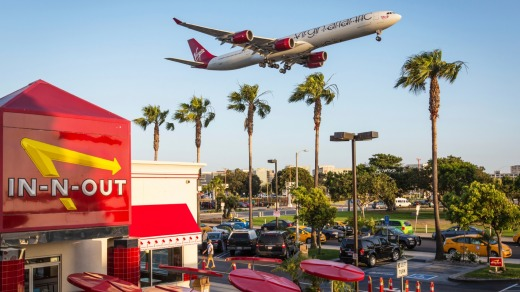 In-N-Out burger at LAX.