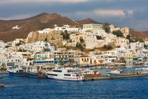 The Greek island of Naxos is the largest island in the Cyclades.