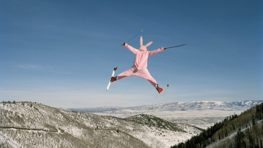 Nope: Onesies on the ski slopes.