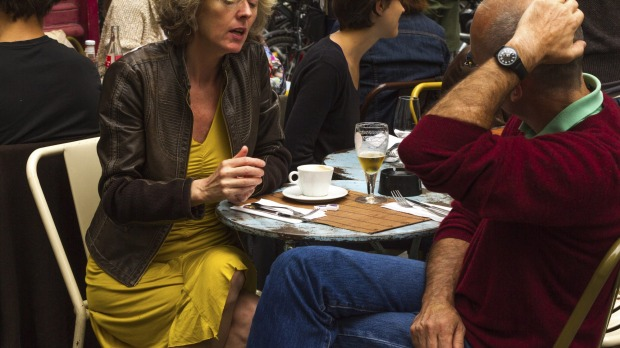 A cafe in Paris where people enjoy an unregulated ambience.