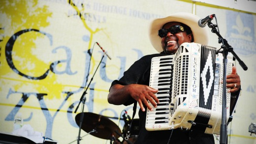 Nathan and the Zydeco Cha Chas at the Jazz Festival.