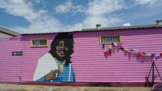 Ernie K Doe mural at Euclid Records store: New Orleans.