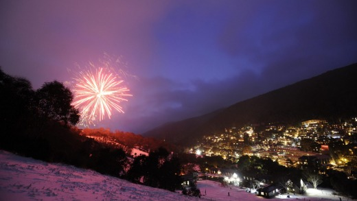 Every Saturday evening in Thredbo, fireworks and a flare run of skiers lights a trail down the mountain.