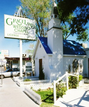 Nevada, Las Vegas, Graceland Wedding Chapel.