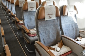 Economy class on South African Airways.