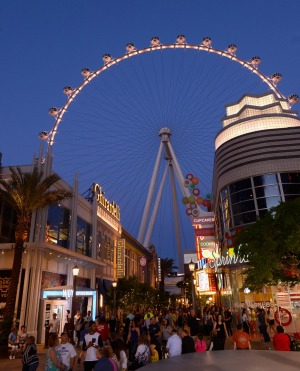 The world's tallest observation wheel, the High Roller in Las Vegas.