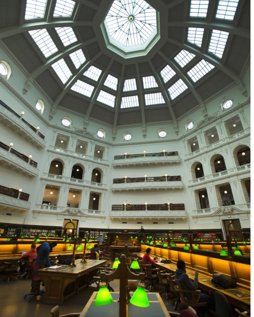Latrobe Reading Room, State Library of Victoria.