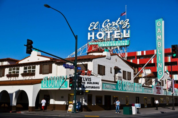 The El Cortez Hotel on Fremont St, Old Vegas. It is one of the oldest casino-hotel properties in Las Vegas having ...