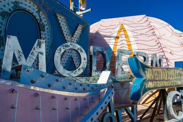 Old signs at the Neon Boneyard, Las Vegas.