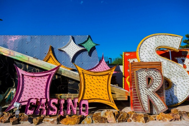 Pieces of signage at the Neon Boneyard, Las Vegas.