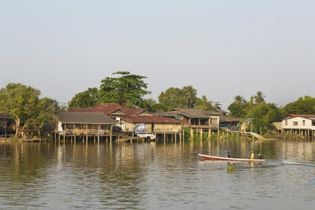 The stilted fishing village of Bang Pat.