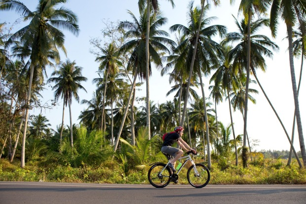 Riding in the Thai heat is challenging.