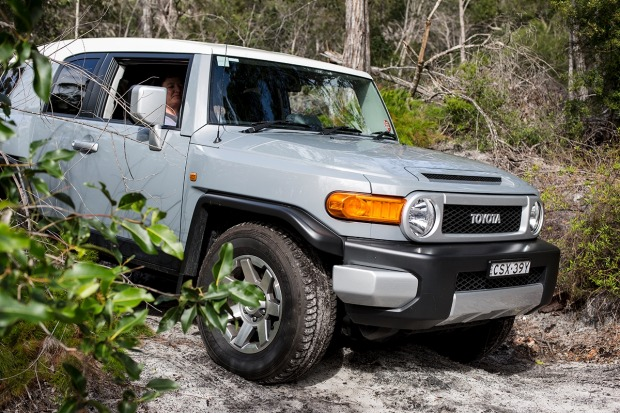 Learning to drive the Toyota FJ Cruiser.