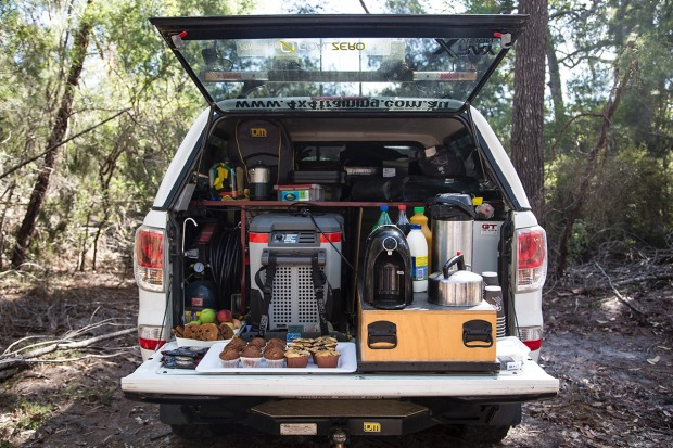 Hungry? Not a problem. This 4WD converts into a cafe for morning and afternoon tea.