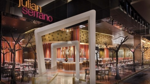 Dine at Aria's Julian Serrano for a very Vegas experience.