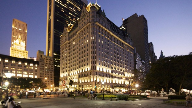 The Plaza in New York where Charlie Sheen threw furniture against walls and demolished a chandelier in a drunken, ...