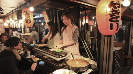 Meal time: Tokyo might have a reputation for being expensive, but you'll find eating out is cheaper than in Australia.