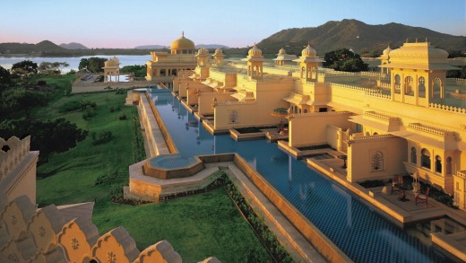 World's best: The Oberoi Udaivilas.