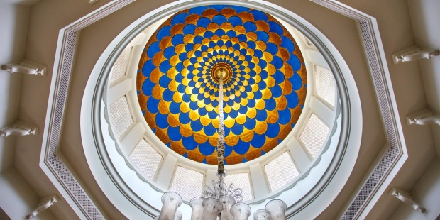 One of the hotel's many opulent domes.