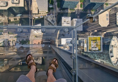 The view from the ledge, Sears Tower, in Chicago.